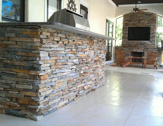 Outdoor Kitchen - Trinity Tile and Stone  Trinity Tile and Stone