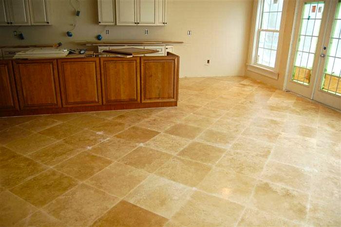 Ceramic tile looks like travertine